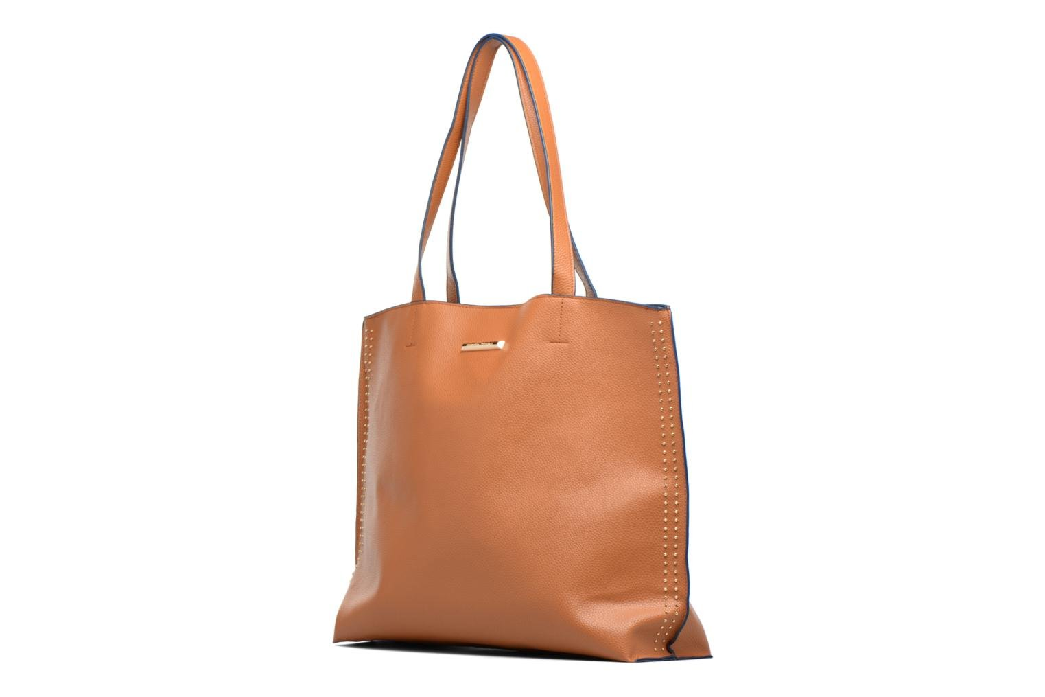 Borse Dorothy Perkins Stud Side Shopper Marrone modello indossato