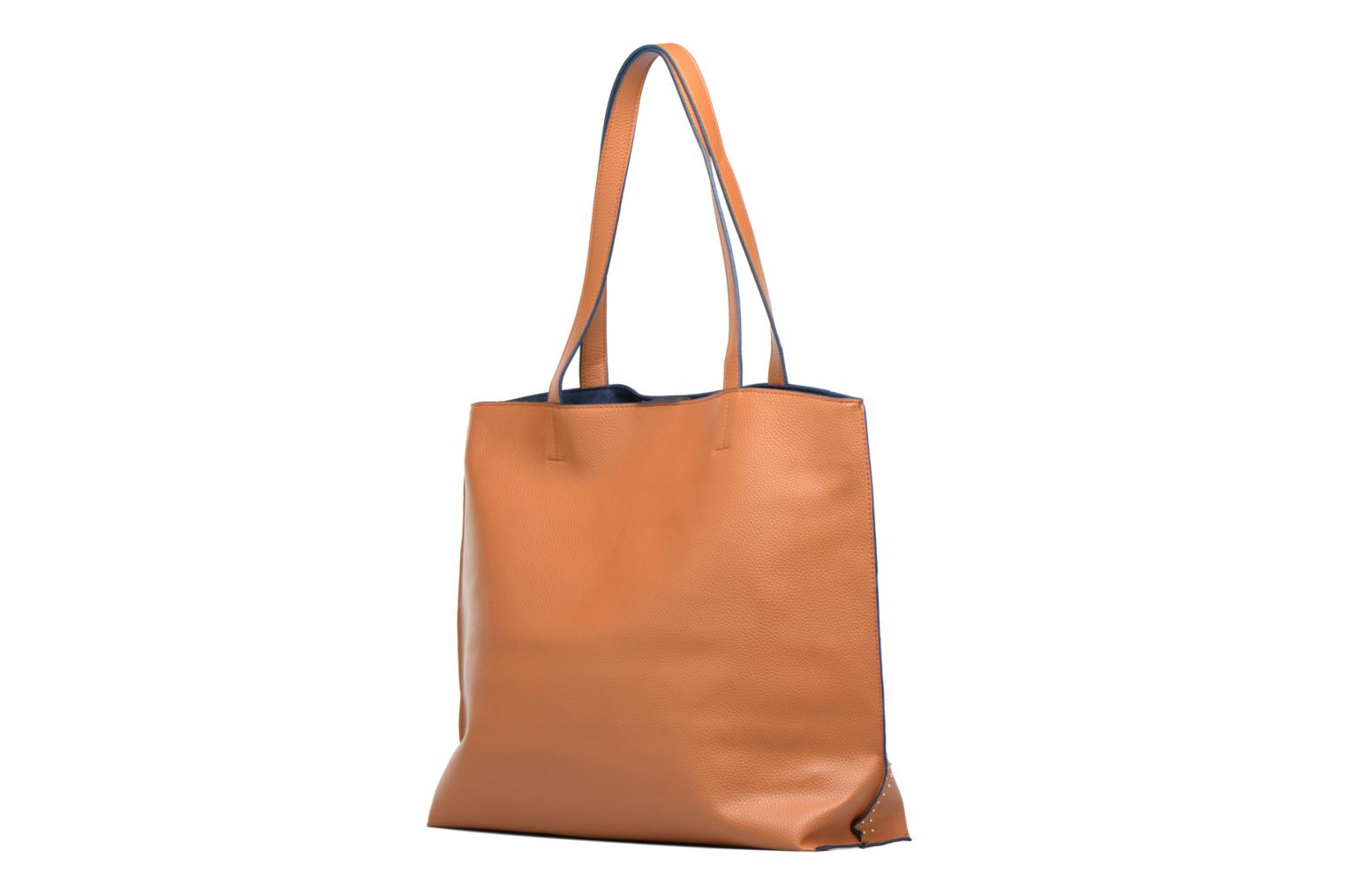 Borse Dorothy Perkins Stud Side Shopper Marrone immagine destra