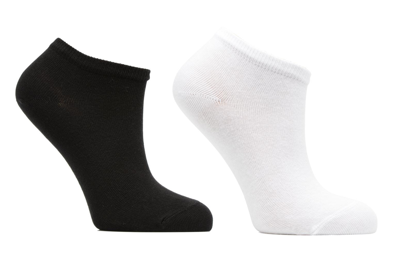 Chaussettes Enfant Pack de 2 invisibles Unies Noir/blanc