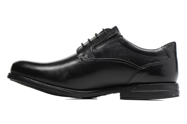 Chaussures à lacets Clarks Hopton Walk Noir vue face