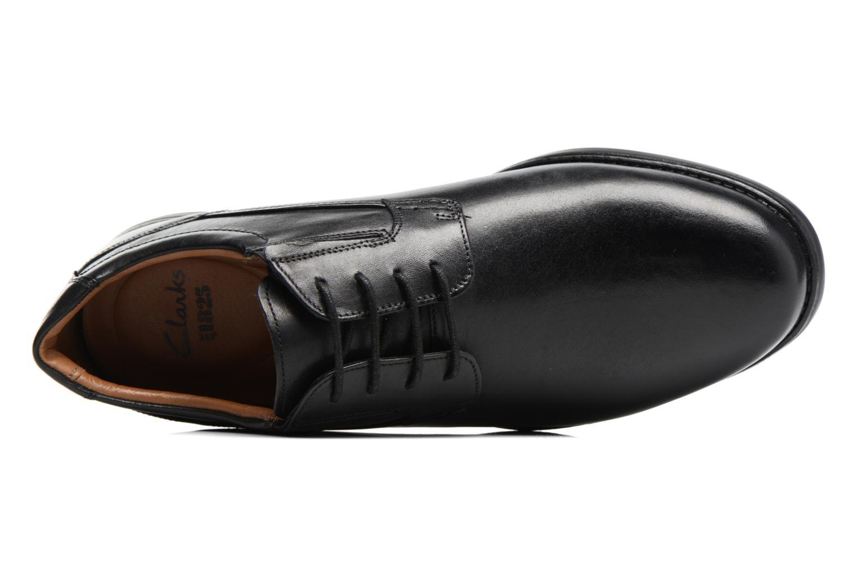 Chaussures à lacets Clarks Hopton Walk Noir vue gauche
