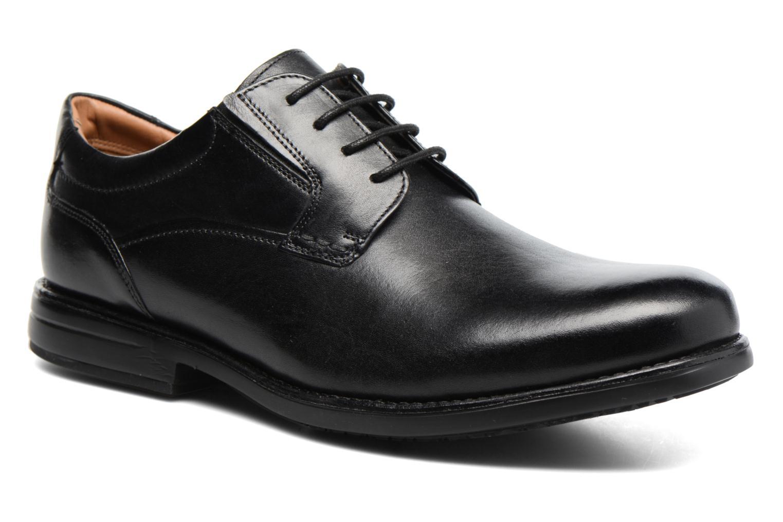 Chaussures à lacets Clarks Hopton Walk Noir vue détail/paire