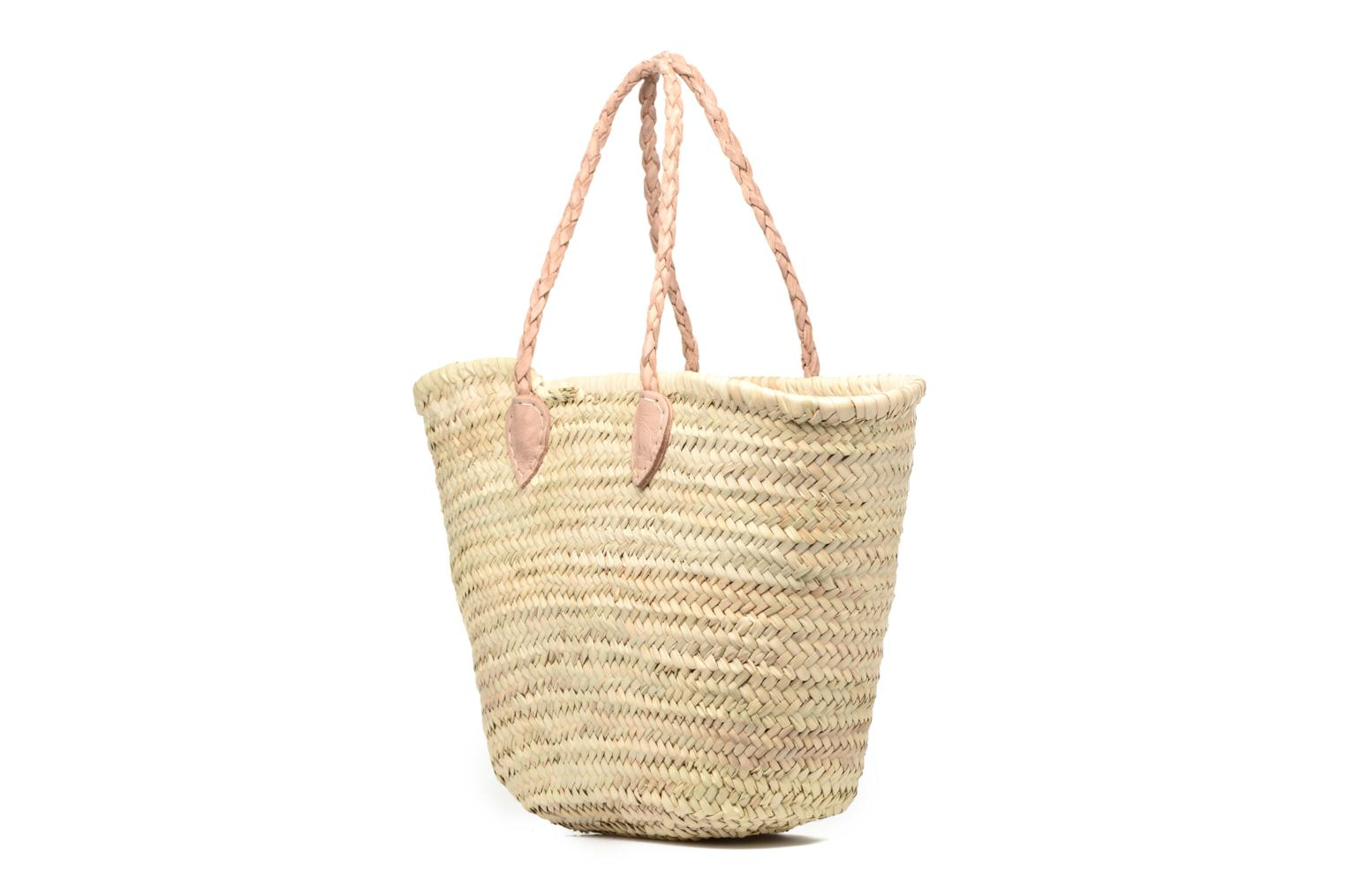 Handbags Etincelles Panier artisanal Vierge longes anses Beige view from the right