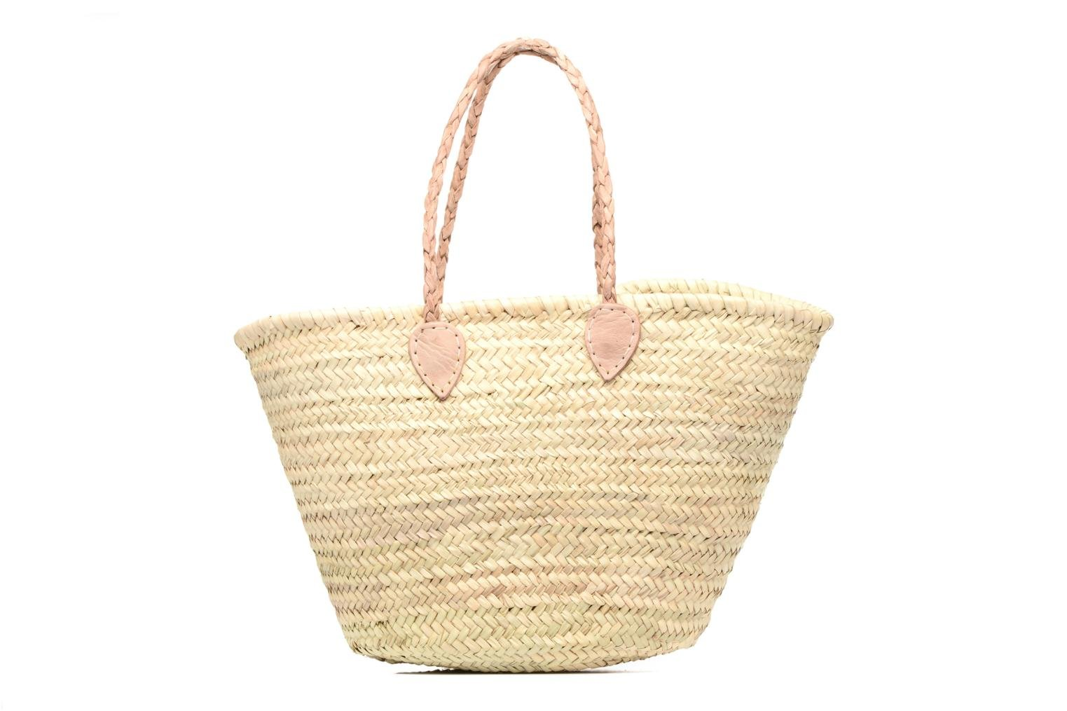 Handbags Etincelles Panier artisanal Vierge longes anses Beige detailed view/ Pair view
