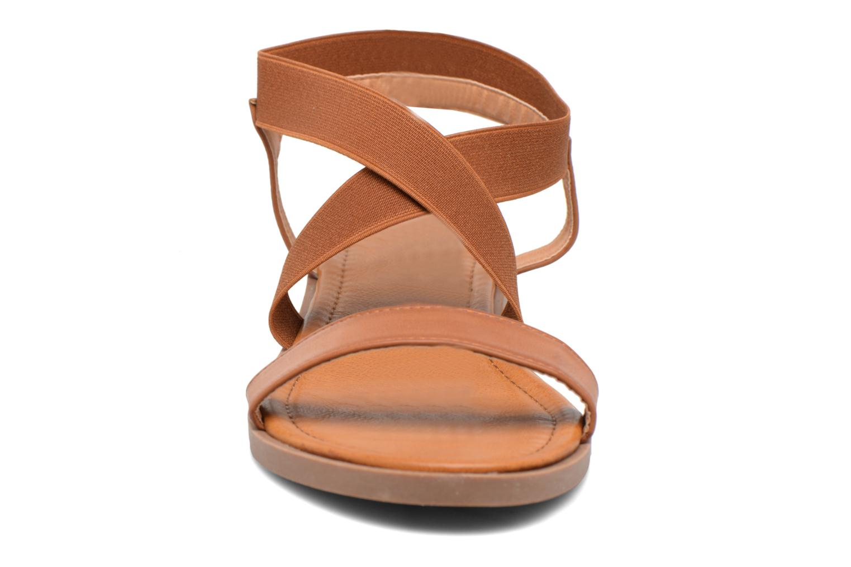 Sandalias I Love Shoes THAVA Size + Marrón vista del modelo