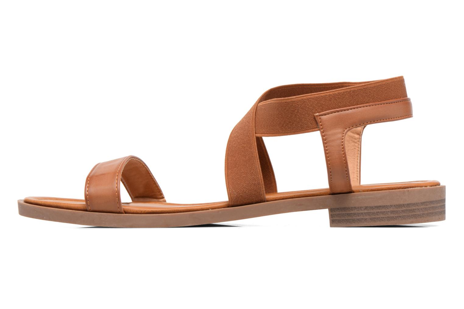 Sandals I Love Shoes THAVA Size + Brown front view