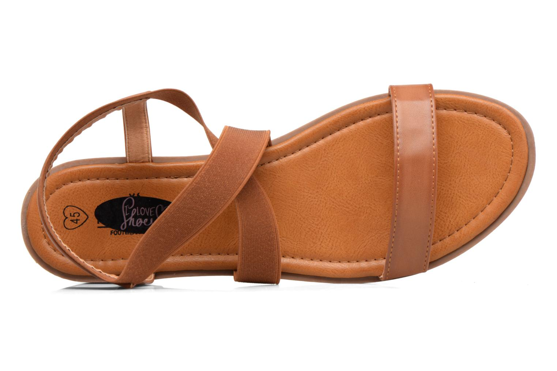 Sandalias I Love Shoes THAVA Size + Marrón vista lateral izquierda