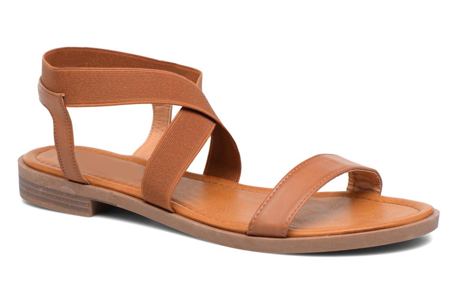 Sandals I Love Shoes THAVA Size + Brown detailed view/ Pair view