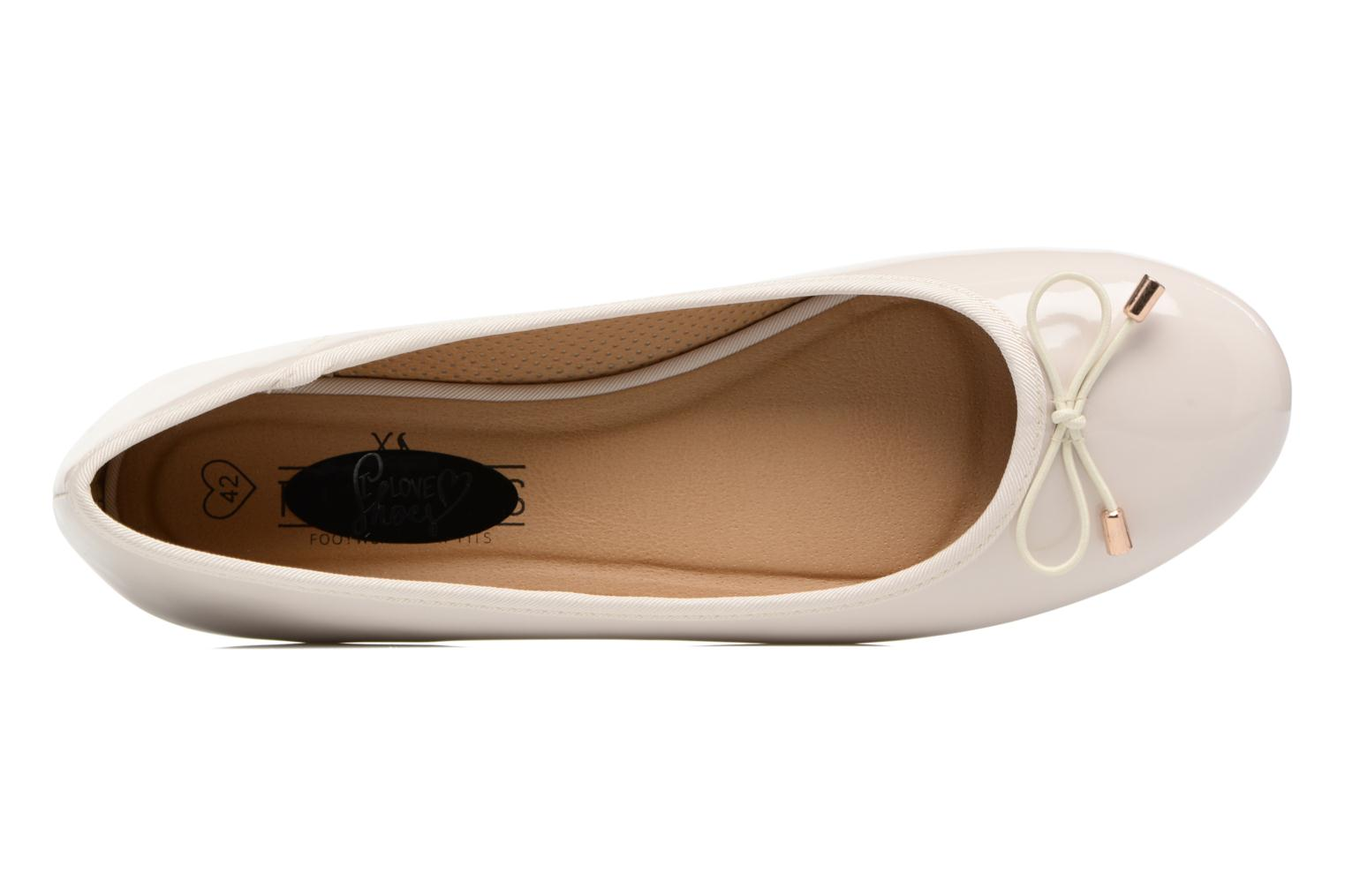Ballet pumps I Love Shoes THAVE Size + Beige view from the left
