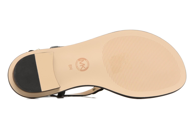 Sandales et nu-pieds Michael Michael Kors Lee Thong Noir vue haut