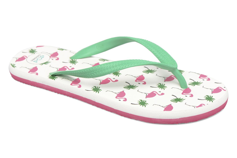 Diya W Tong Flip Flop Green/White