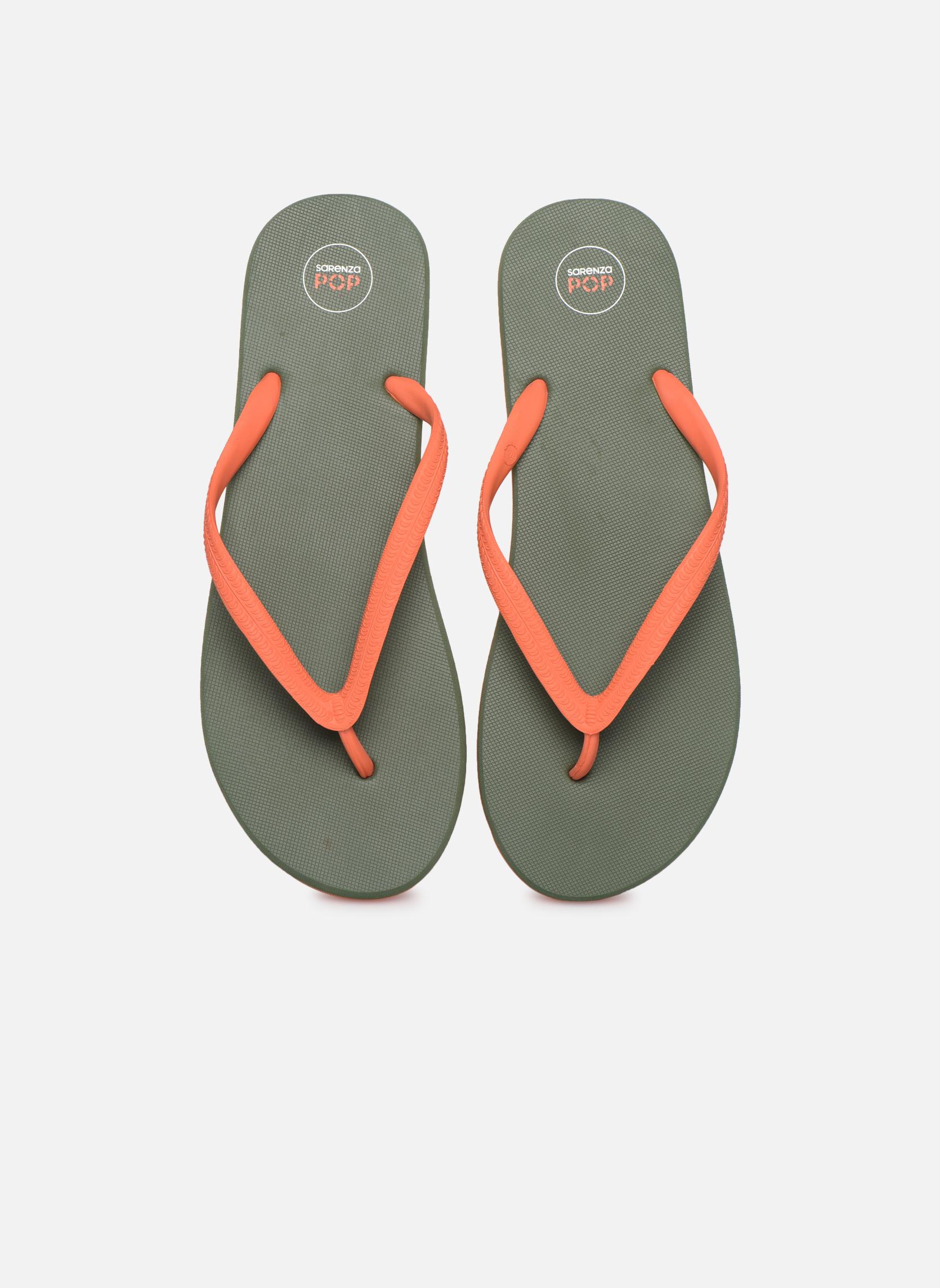 Zehensandalen SARENZA POP Diya M Tong  Flip Flop grün schuhe getragen