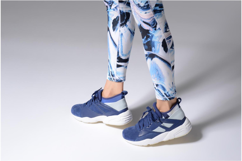 Baskets Puma PUMA x CAREAUX B.O.G Sock Bleu vue bas / vue portée sac