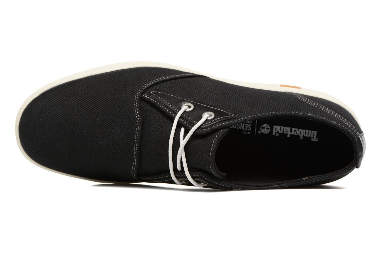 Sneaker Timberland Amherst Canvas PTO schwarz ansicht von links