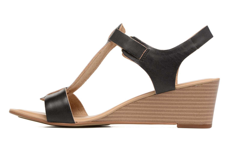 Sandalen Timberland Sibbern T-Strap Sandal schwarz ansicht von vorne