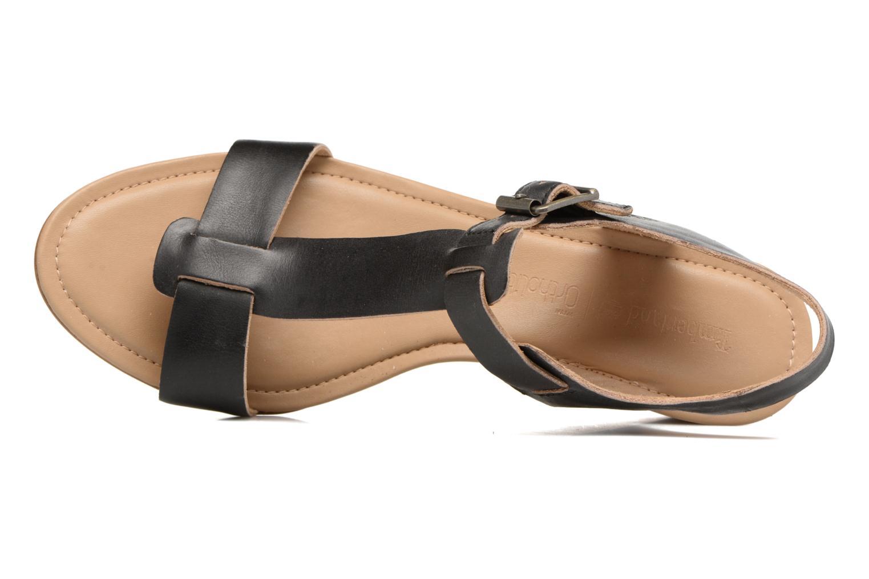 Sandalen Timberland Sibbern T-Strap Sandal schwarz ansicht von links