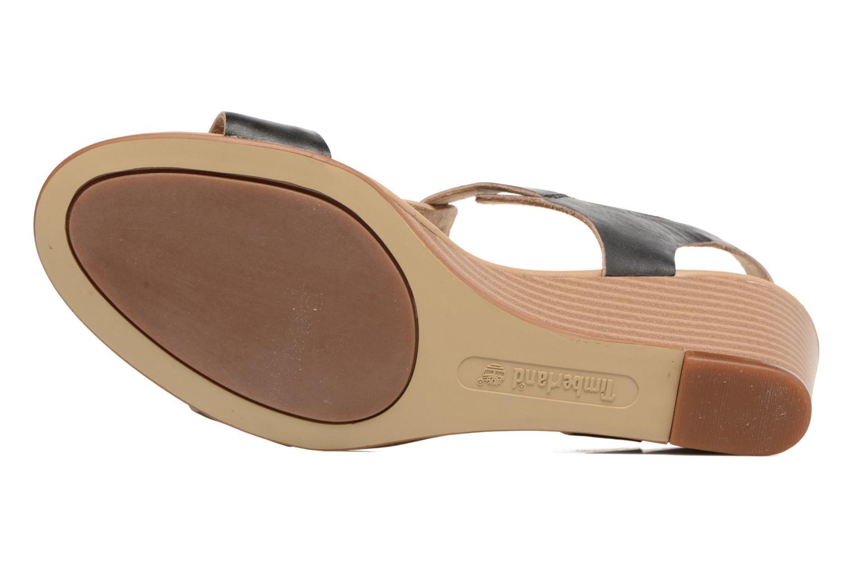 Sandales et nu-pieds Timberland Sibbern T-Strap Sandal Noir vue haut