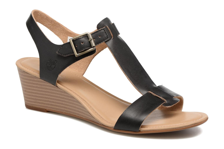 Sandales et nu-pieds Timberland Sibbern T-Strap Sandal Noir vue détail/paire