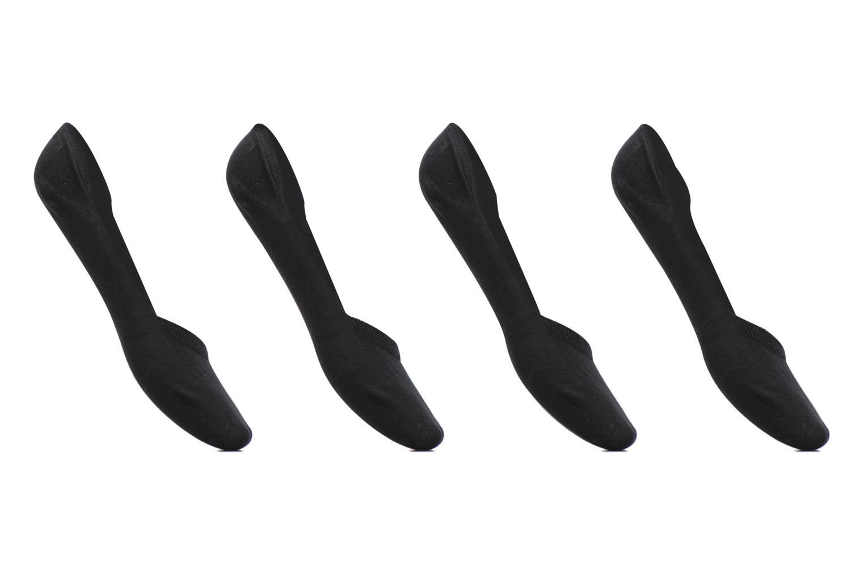 Chaussettes et collants Sarenza Wear Chaussettes Protèges - Pieds Femme : pack de 4 coton Noir vue détail/paire
