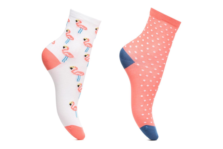 Socken & Strumpfhosen Sarenza Wear Chaussettes Pack de 2 Fille : Flamant Rose Coton rosa detaillierte ansicht/modell