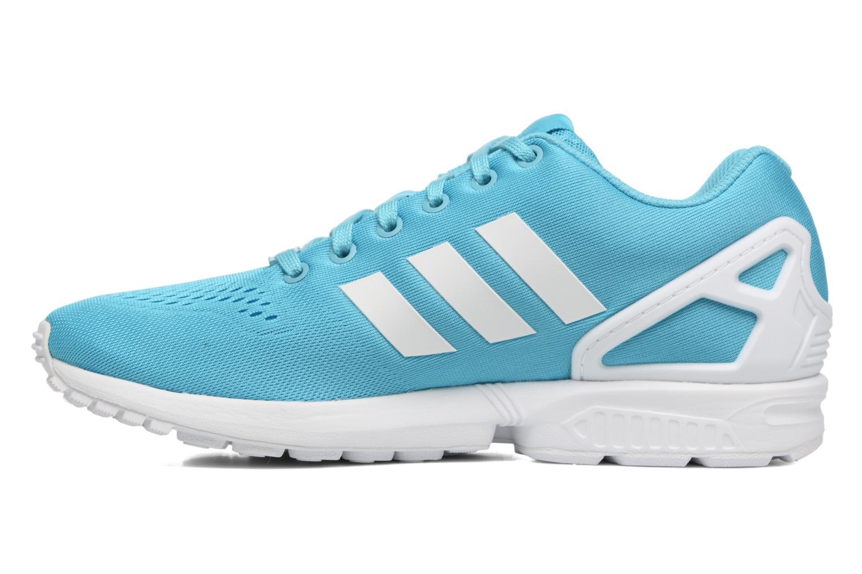 Sneakers Adidas Originals Zx Flux Em Azzurro immagine frontale