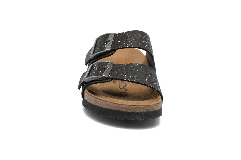 Mules et sabots Papillio ARIZONA cuir nubuck Noir vue portées chaussures