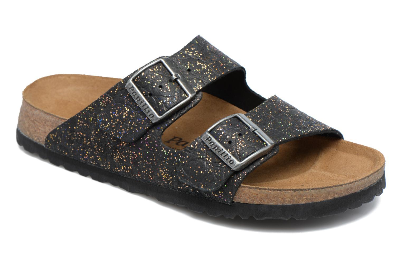 Clogs og træsko Papillio ARIZONA cuir nubuck Sort detaljeret billede af skoene