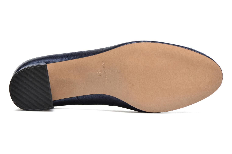 Slico cuir velours métallisé  marine