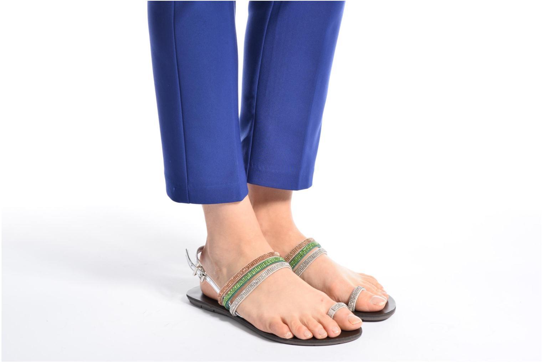 Sandales et nu-pieds Chattawak Nina Bleu vue bas / vue portée sac