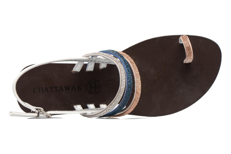 Sandali e scarpe aperte Chattawak Nina Azzurro immagine sinistra