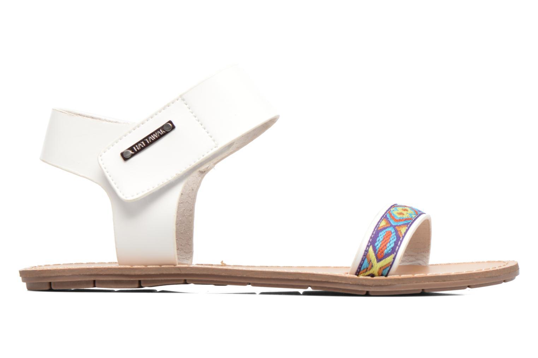 Sandales et nu-pieds Chattawak Louisiane Blanc vue derrière