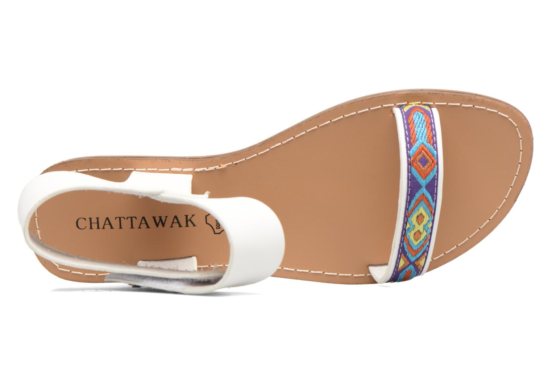 Sandales et nu-pieds Chattawak Louisiane Blanc vue gauche