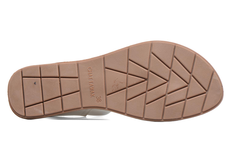 Sandales et nu-pieds Chattawak Louisiane Blanc vue haut