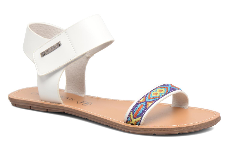 Sandales et nu-pieds Chattawak Louisiane Blanc vue détail/paire