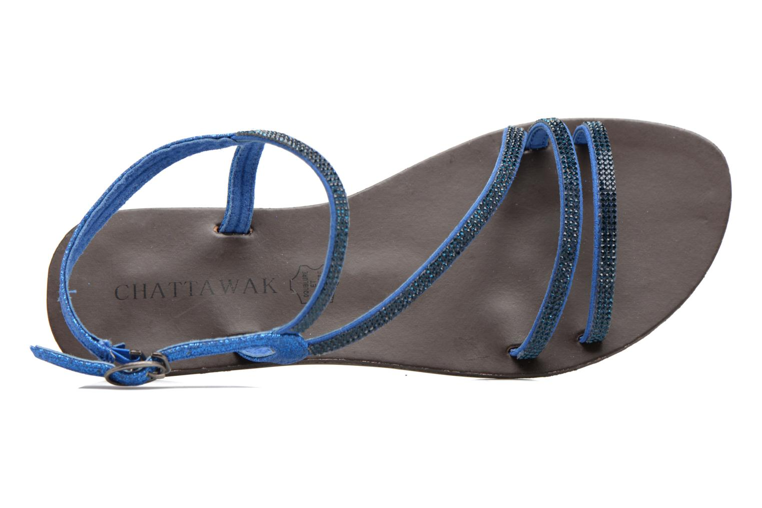 Sandalen Chattawak Nelly Blauw links