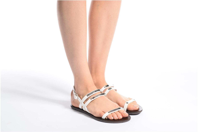 Sandalen Chattawak Lydie weiß ansicht von unten / tasche getragen