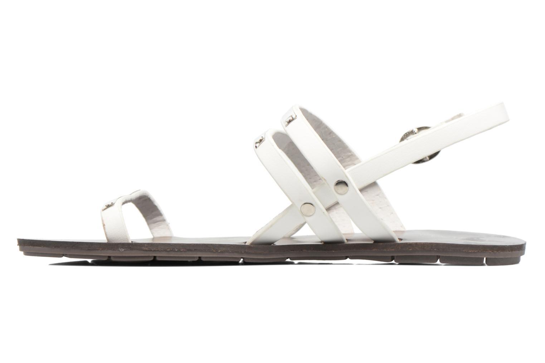Sandales et nu-pieds Chattawak Lydie Blanc vue face