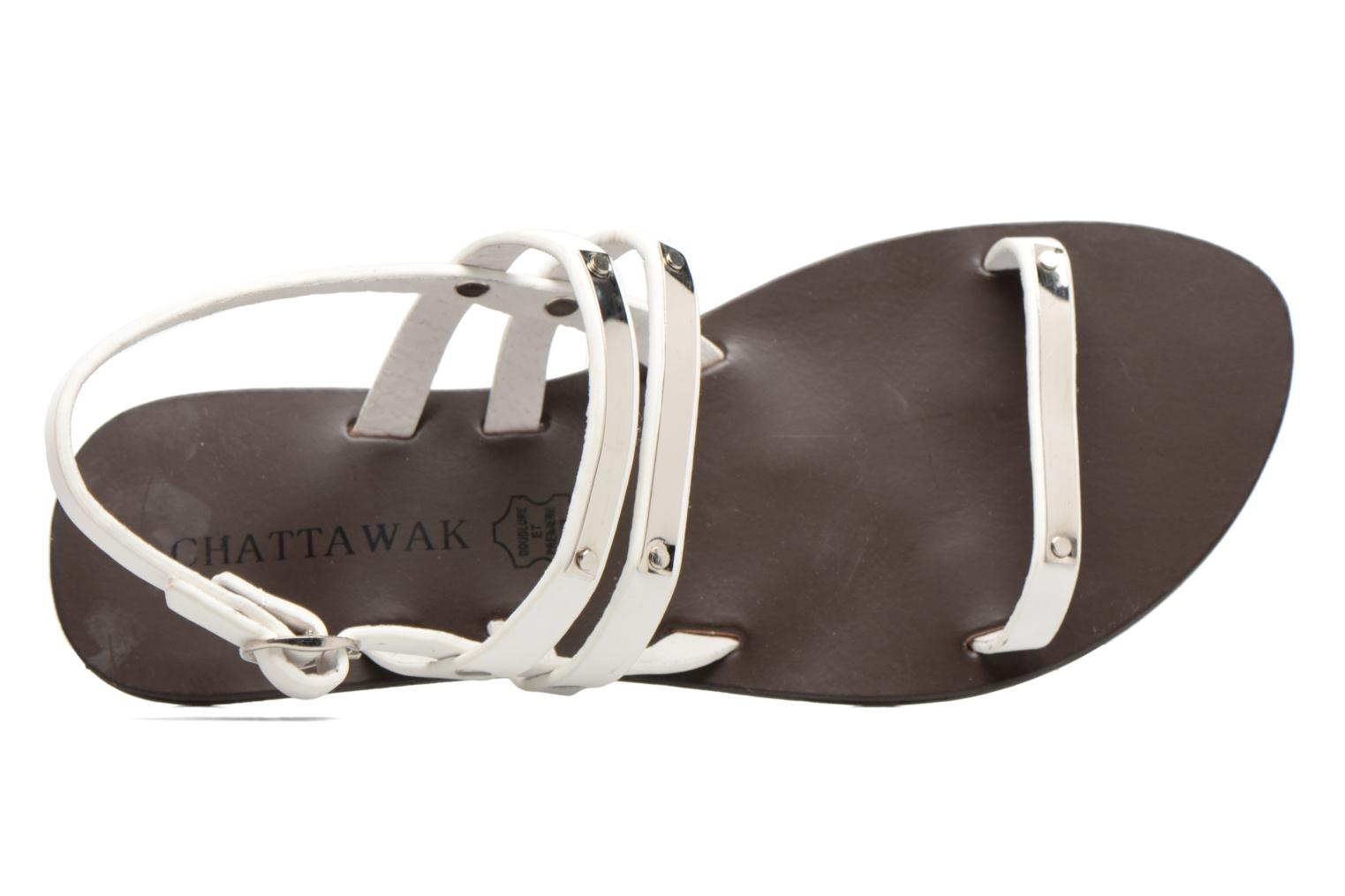 Sandalen Chattawak Lydie Wit links