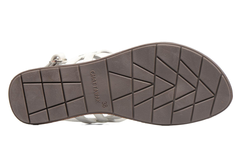 Sandales et nu-pieds Chattawak Lydie Blanc vue haut