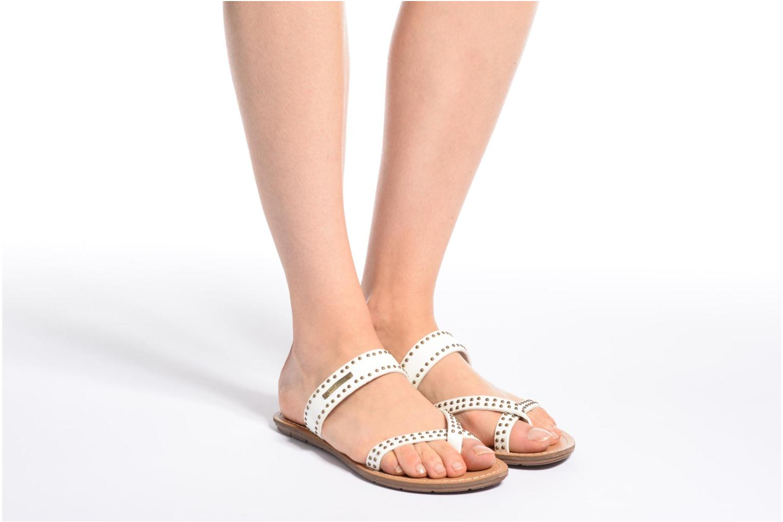 Sandales et nu-pieds Chattawak Pamela Noir vue bas / vue portée sac