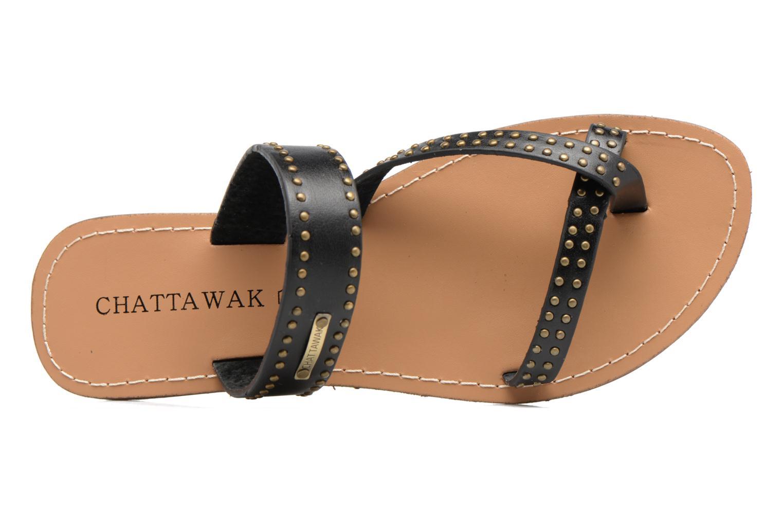 Sandales et nu-pieds Chattawak Pamela Noir vue gauche