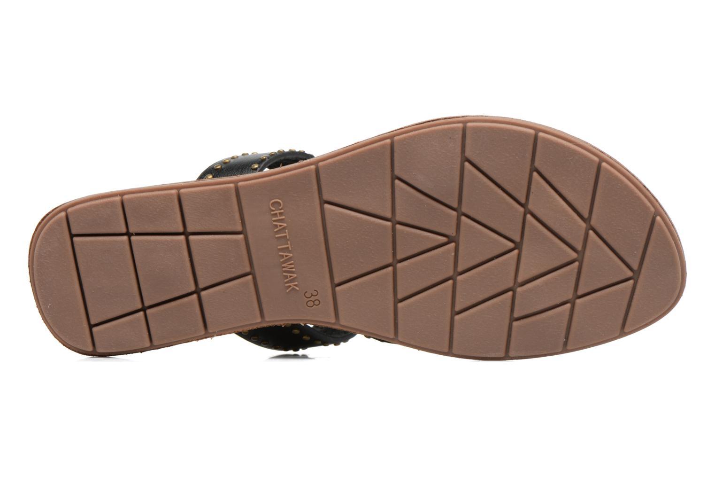 Sandales et nu-pieds Chattawak Pamela Noir vue haut