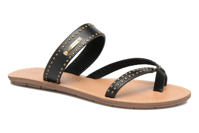 Sandaler Chattawak Pamela Sort detaljeret billede af skoene