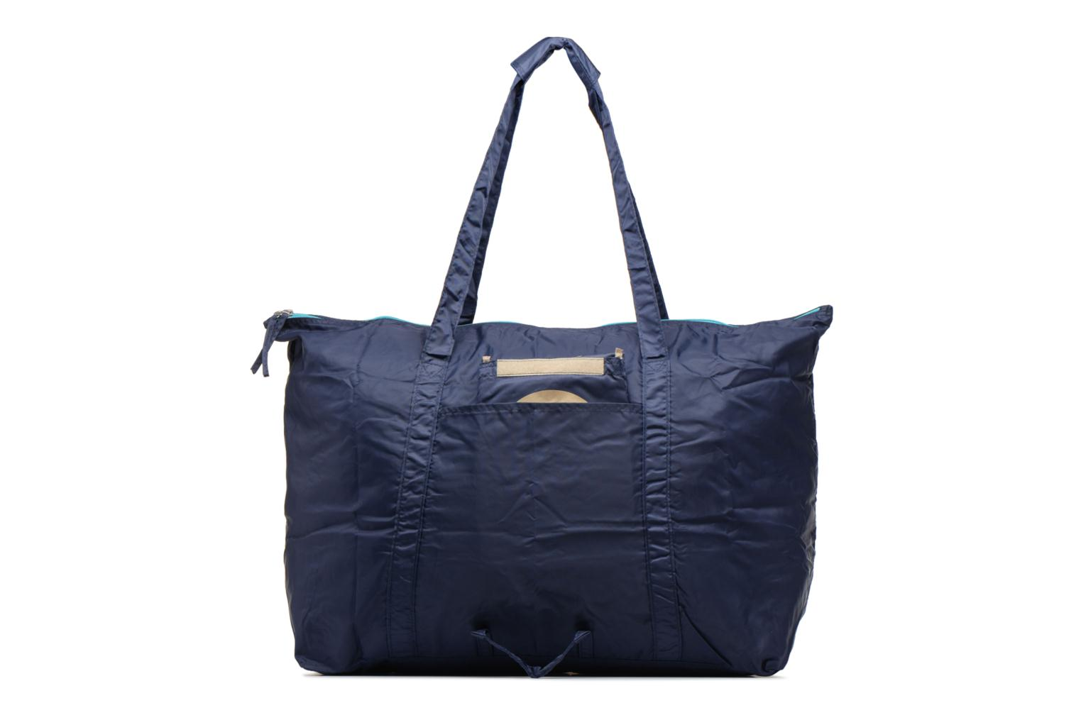 Bagages Bensimon Extra bag L Weekender pliable Bleu vue face