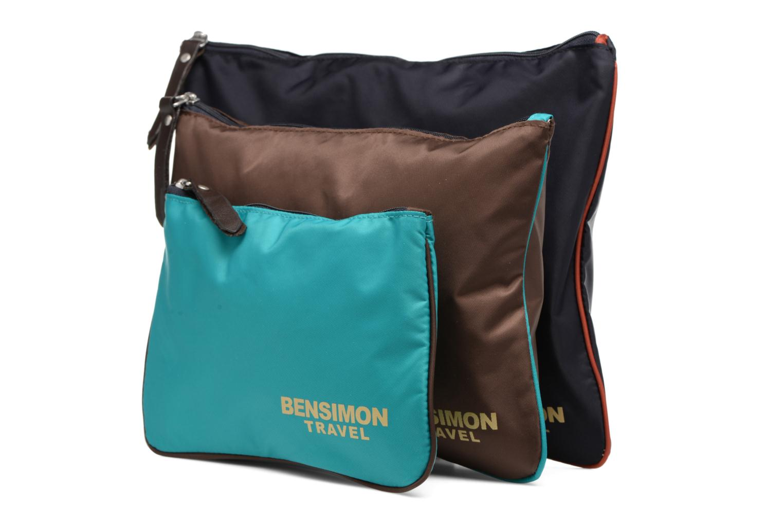 Sacs pochettes Bensimon Zipped pocket set Multicolore vue portées chaussures
