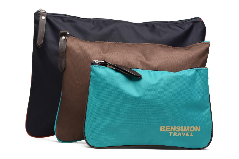 Sacs pochettes Bensimon Zipped pocket set Multicolore vue détail/paire
