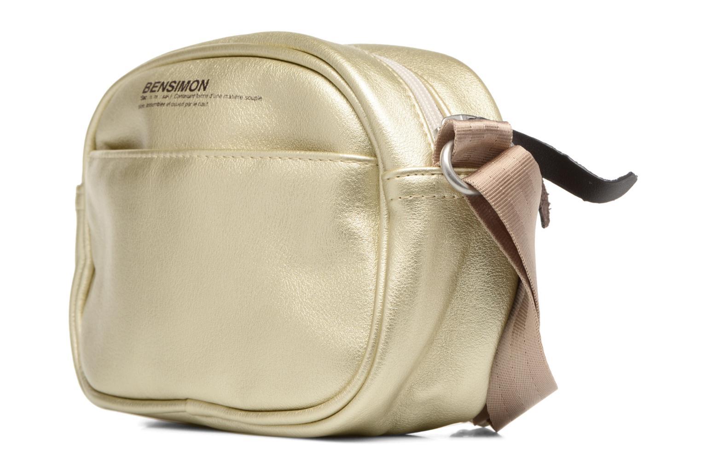 Sacs à main Bensimon Fancy Fake leather Roung bag Or et bronze vue portées chaussures
