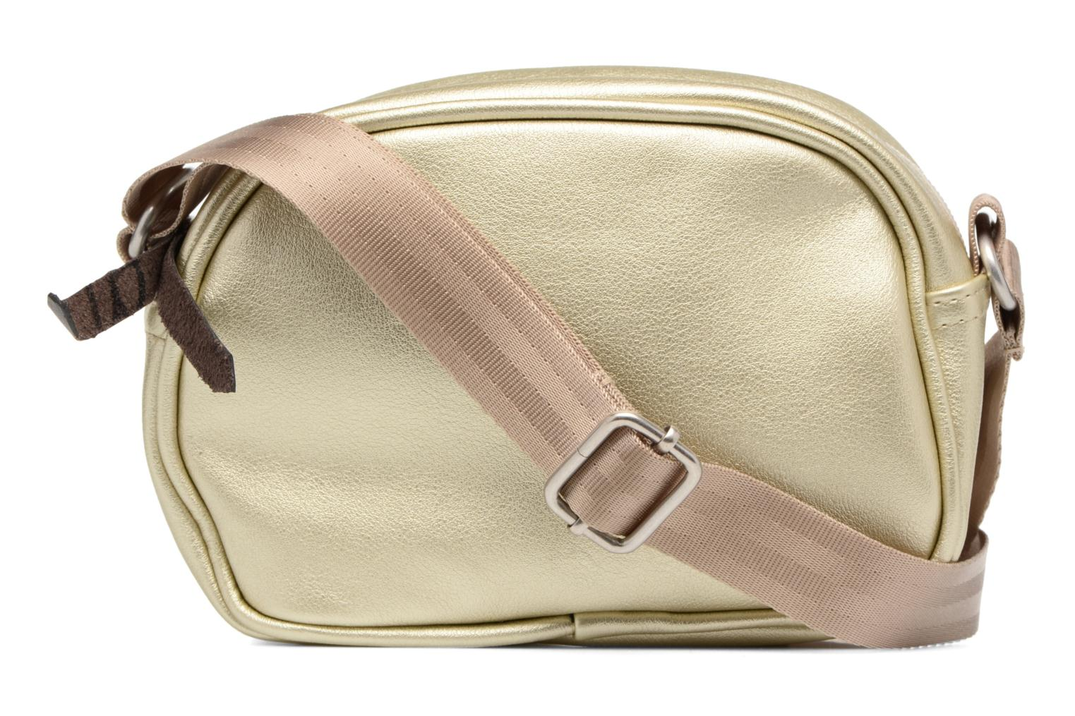 Fancy Fake leather Roung bag Gold