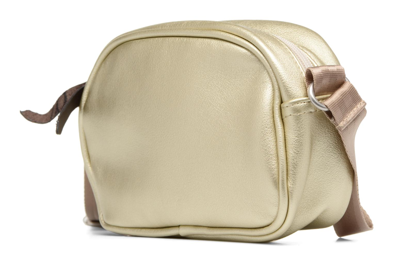 Sacs à main Bensimon Fancy Fake leather Roung bag Or et bronze vue droite