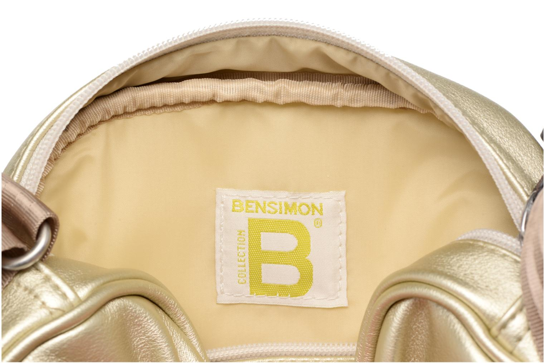 Sacs à main Bensimon Fancy Fake leather Roung bag Or et bronze vue derrière